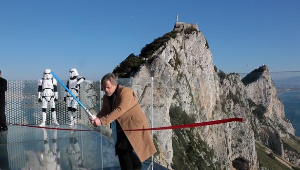 Mark Hamill, el actor que da vida a Luke Skywalker, en el Peñón de Gibraltar.