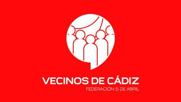 Nuevo logotipo de 'Vecinos Cádiz-Federación 5 de abril'