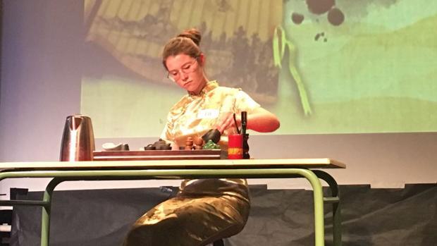 Claudia Lara, durante el desarrollo de la prueba.