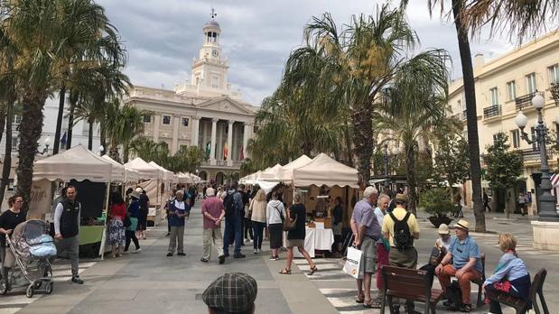 Decenas de cruceristas, hoy por las calles del casco histórico de Cádiz