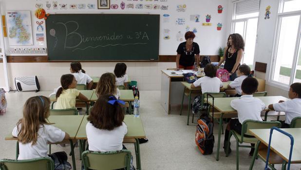 Una clase de alumnos de Primaria en Cádiz capital