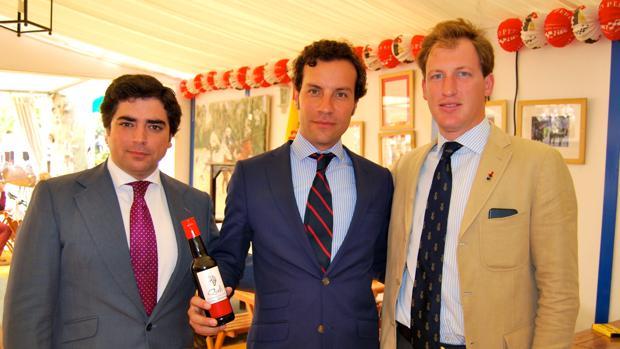 Bosco Guerrero, Jaime López-Moro (presentando la jerezana salsa Quiole) y Pelayo Domecq