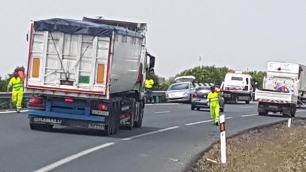Imagen del momento del incidente