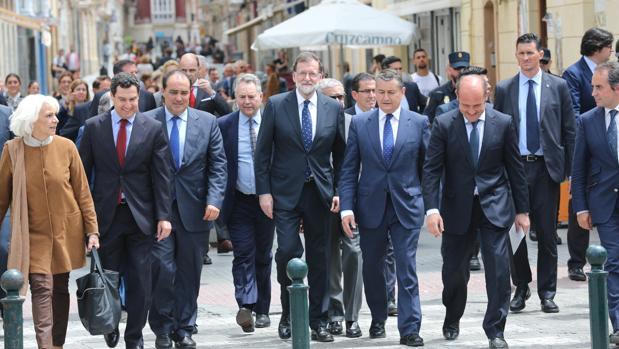 El presidente del Gobierno, en su visita este viernes a Cádiz.
