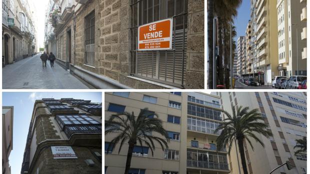 Las viviendas en las zonas más cotizadas de Cádiz