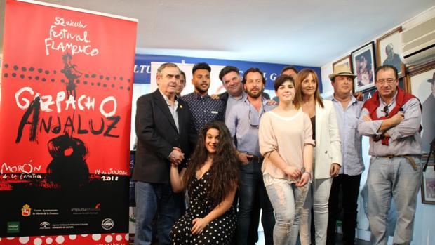 Presentación del festival flamenco «Gazpacho Andaluz», que se celebrará el 14 de julio en Morón