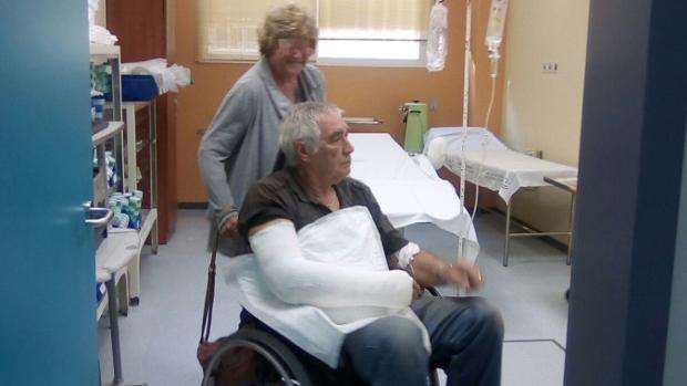 El británico afincado en Aguadulce que ha denunciado un ataque «con hacha», atendido en el hospital de Osuna