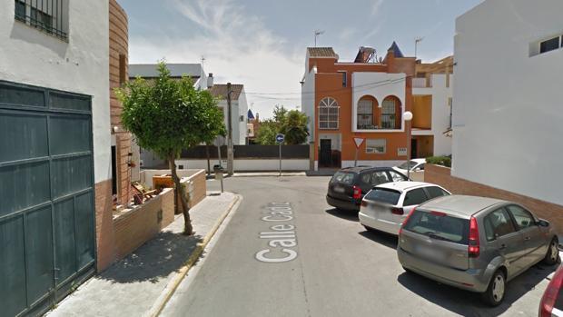 Imagen de la calle Granada con Cádiz en Castilleja de Guzmán