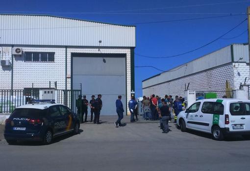 Imagen de la empresa donde han fallecido los trabajadores.