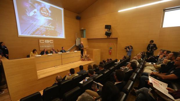 Momento de la celebración del acto de aniversario en la CEC