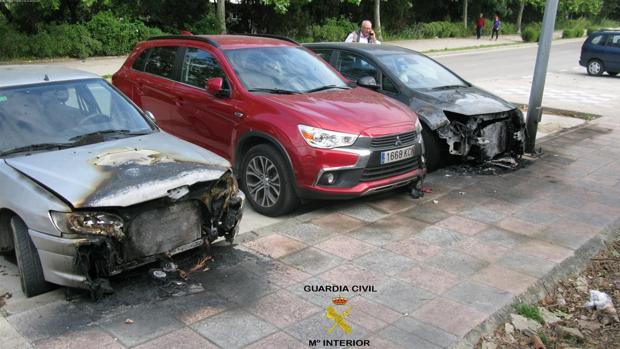 Estado en el que quedaron los vehículos afectados