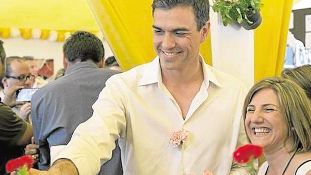 Sánchez con García en u n acto socialista en la provincia.