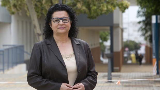 La Comisaria General de Policía Científica, Pilar Allúe, durante su visita al campus de Jerez de la Universidad de Cádiz.