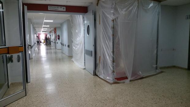 Obras realizadas el año pasado en una de las plantas del hospital Puerta del Mar