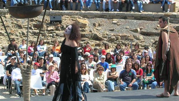 Una actuación en Baelo Claudia en la pasada edición del Festival de Teatros Romanos