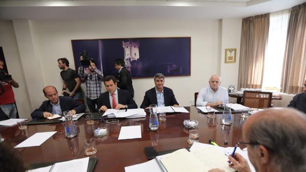 Ignacio Romaní,en el consejo celebrado ayer en Aguas de Cádiz.