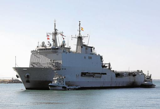 El 'Galicia' el pasado mes de agosto llegando a Rota tras participar en la operación 'Atalanta'.