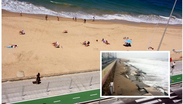 Los escombros quedaron sepultados bajo la arena de la playa, que ahora luce así