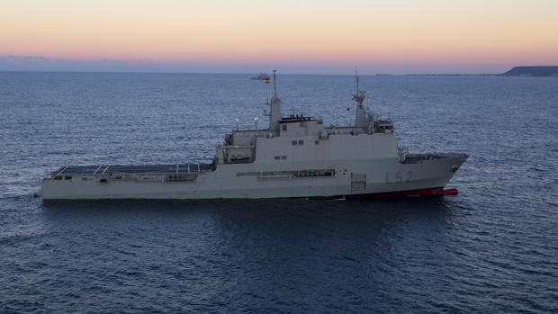 El buque 'Castilla', una de las unidades que componen la Fuerza de Acción Naval.