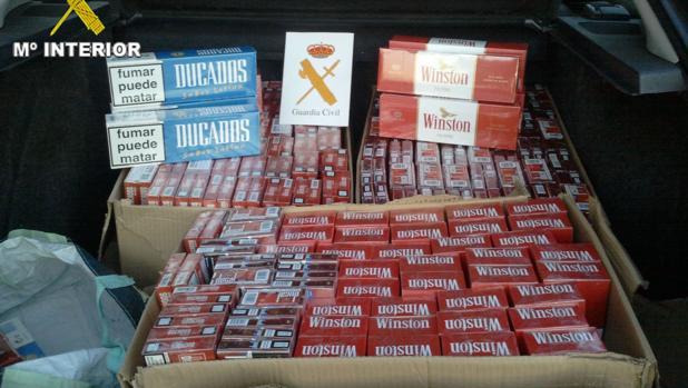 Carga de tabaco ilegal.