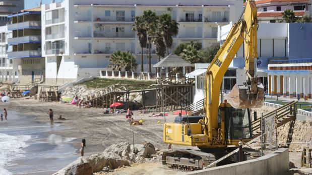 La plata de Fuentebtavía de El Puerto fue una de las más afectadas por los temporales.