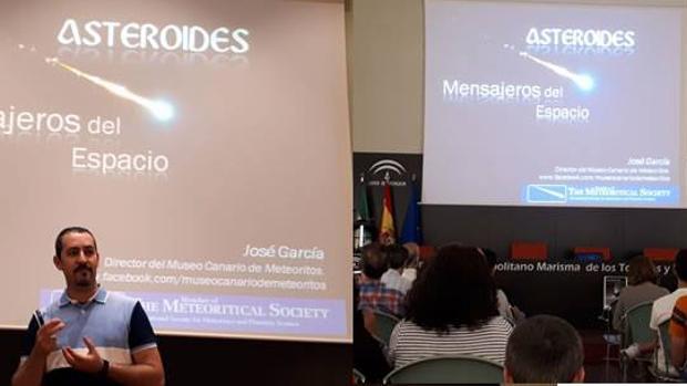 Un momento de la conferencia de José García