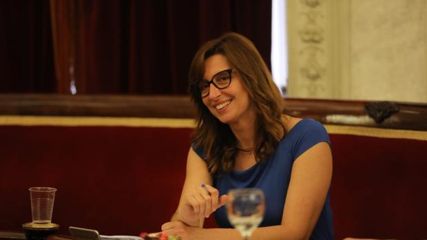 Victoria Rodríguez, en el pleno del pasado viernes en el Ayuntamiento.