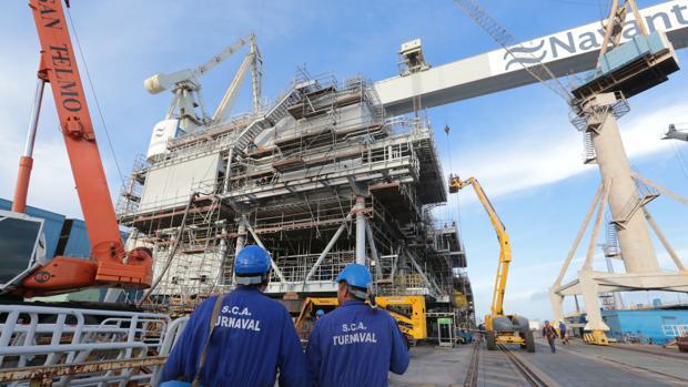 Segunda estructura offshore construida por Navantia-Puerto Real para Iberdrola