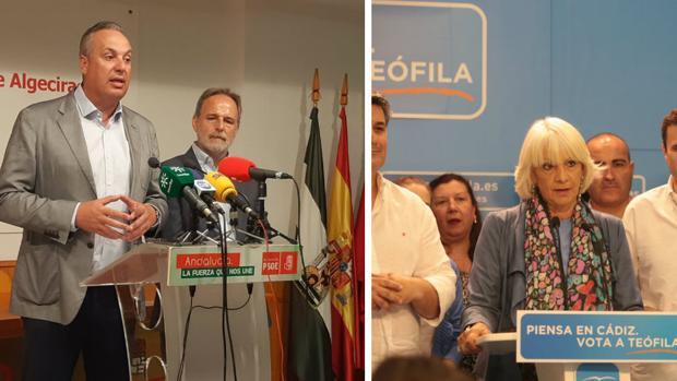 Juan Carlos Ruiz Boix, vicesecretario provincial del PSOE, y Teófila Martinez, diputada provincial del PP.