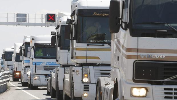 Los transportistas se echaron a la calle en 2008 en protesta por otra subida del gasóleo