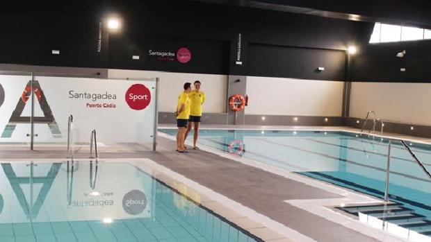 Imagen de una de las piscinas del centro deportivo