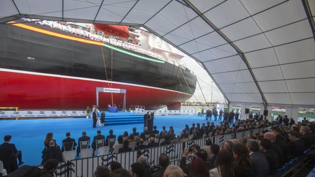 Ceremonia de entrega del primer petrolero en Navantia-Puerto Real