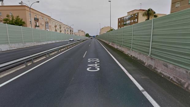 El punto de la carretera CA33 donde se ha producido el accidente.