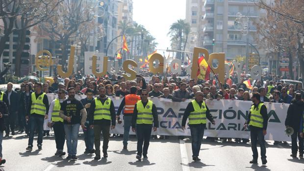 Imagen de la última manifestación en Cádiz capital.