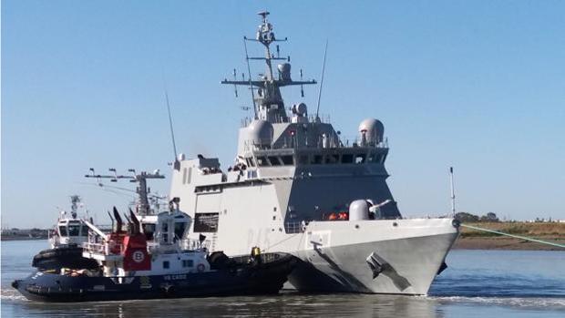 El Buque de Acción Marítima Audaz.