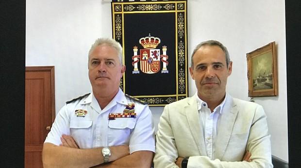 El subdelegado de Defensa Joaquíín González se reunió con el subdelegado del Gobierno en Cádiz José Pacheco.