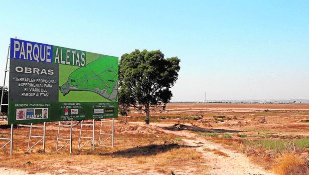 Terreno del parque de Las Aletas en el municipio de Puerto Real