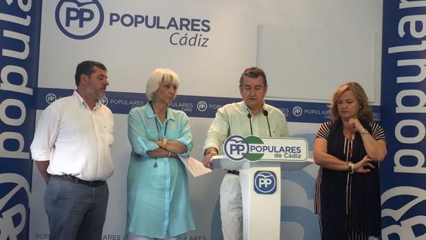 Alfonso Candón, Teófila Martínez, Antonio Sanz y María José García Pelayo durante la rueda de prensa.