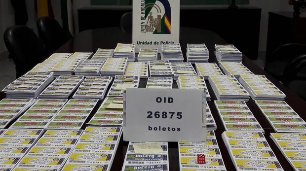Operación contra la lotería ilegal