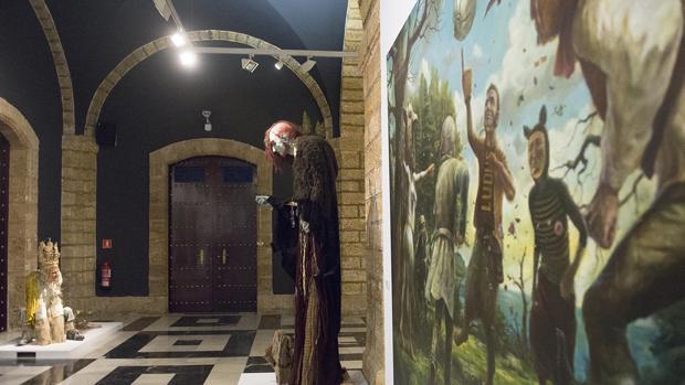 Una instantánea de la exposición en el Palacio Provincial