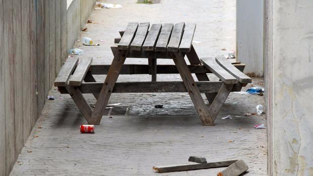 Los actos vandálicos en el interior del parque Celestino Mutis se suceden cada día.
