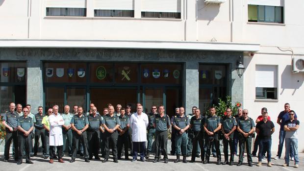 El Cuerpo de la Guardia Civil muestra sus condencias en el primer aniversario de los atentados en Cataluña