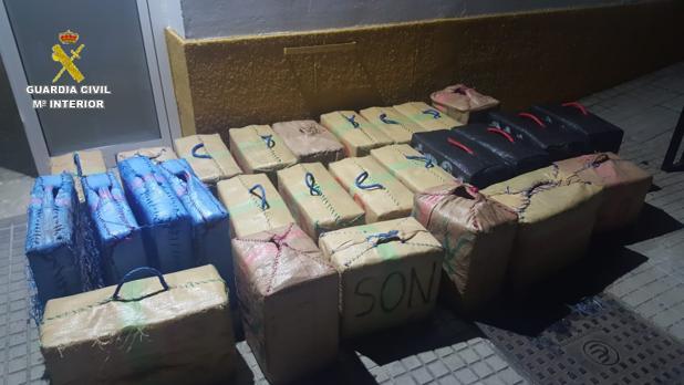 La droga que ha sido incautada por la Guardia Civil