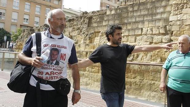 El Padre Coraje de Jerez, en una de sus marchas para pedir justicia