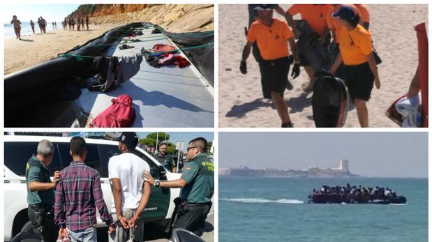 Los agentes siguen buscando a los inmigrantes en las inmediaciones