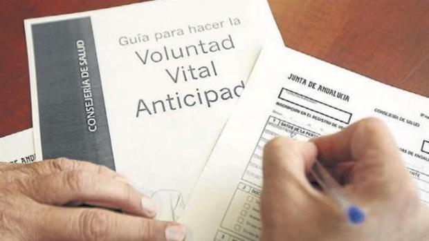 Formulario para rellenar la voluntad vital anticipada.