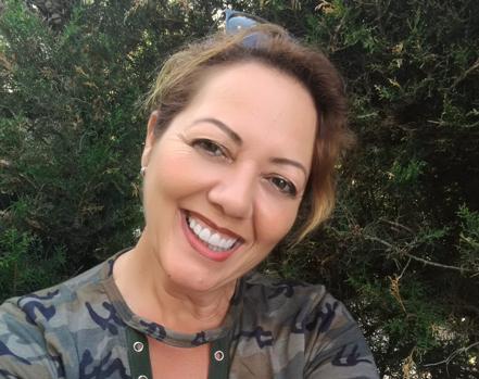 Juana Montes, con su constante sonrisa.