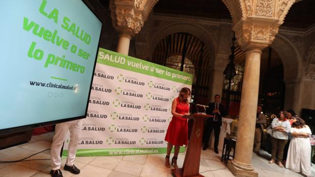 La directora general de La Salud, María José Cañas, en el acto de inauguración celebrado en el Casino