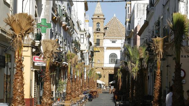 La calle la Palma es una de las zonas más afectadas por la nueva ordenanza que está en fase de elaboración.