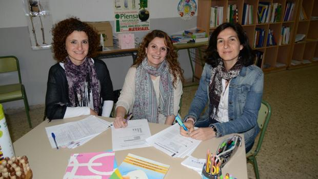 El equipo de pedagogía terapéutica y orientación escolar del colegio Argantonio de Cádiz.
